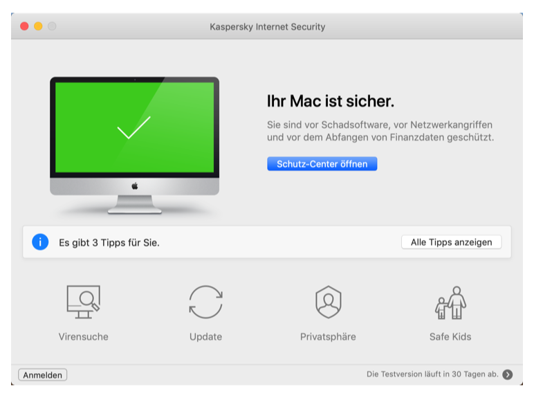 Kaspersky Mac Internet Security Screenshot