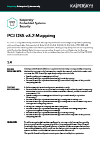 PCI DSS 3.2 Mapping: Embedded Systems