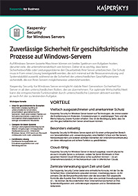 KASPERSKY SECURITY FOR WINDOWS SERVER – DATENBLATT