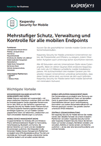 Kaspersky Security for Mobile – Datenblatt