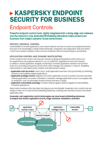 Kaspersky Endpoint Security for Business Control Tools - Datenblatt