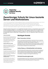 KASPERSKY SECURITY FOR LINUX – DATENBLATT